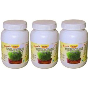 Organic Wheatgrass Powder - Pack of 3 Bottles Free Delivery