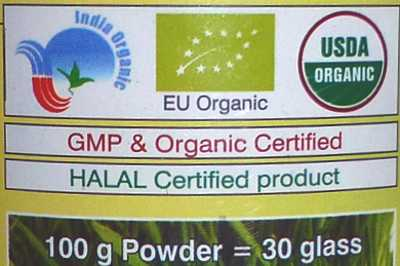 Organic Certificates found in Best Organic Wheatgrass Powder